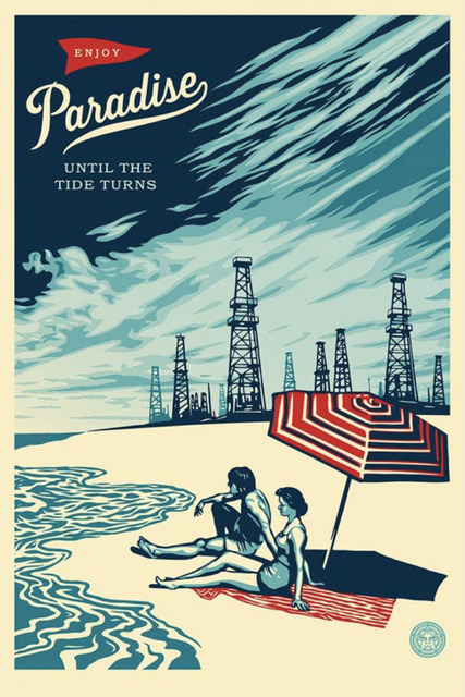 Shepard Fairey, 'Paradise Turns - Offset', 2015, Blackline Gallery