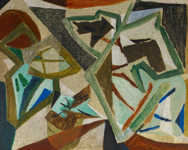 Georg Meistermann, 'Untitled', Ca. 1946, Painting, Oil on canvas. Mounted on wood, Van Ham