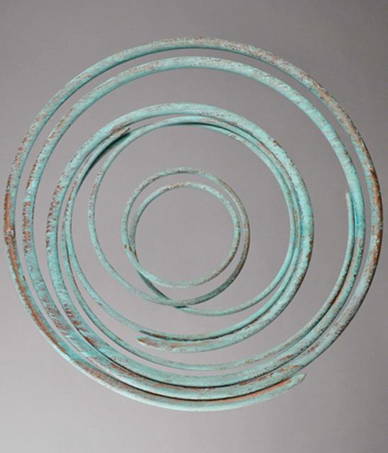 Mark Beattie, 'Verdigris Spiral', 2018, Sculpture, Weathered copper, Apotheosis Art