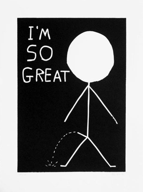 David Shrigley, 'I'm So Great', 2014, Print, Linocut, Kumi Contemporary / Verso Contemporary