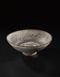 Monumental 'knitted' bowl