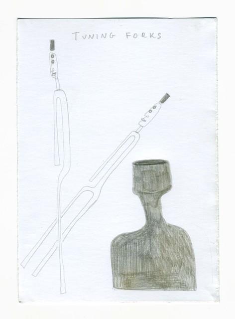 , 'μg, tuning forks,' 2019, UNION Gallery