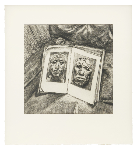 Lucian Freud, 'The Egyptian Book', 1994, Print, Etching on T.H.S. Saunders paper, Matthew Marks Gallery