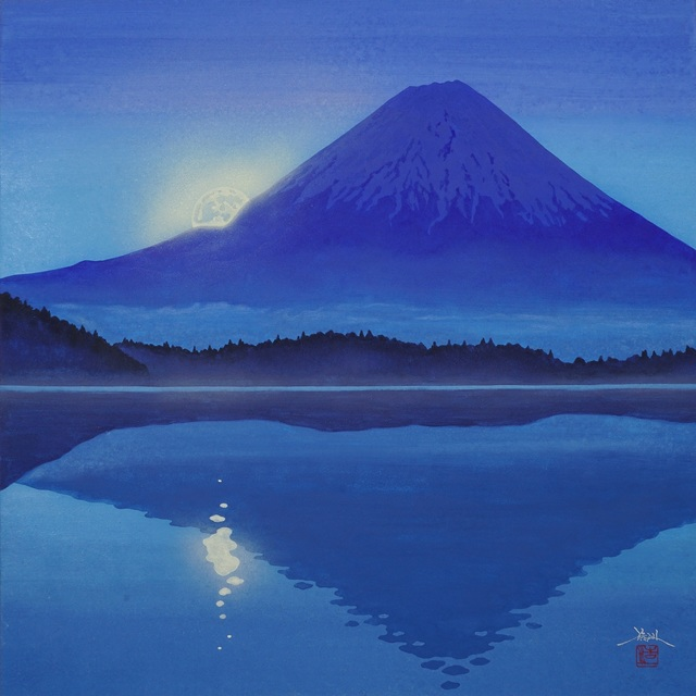 , 'Mt. Fuji and the Moon in Blue,' 2018, SEIZAN Gallery
