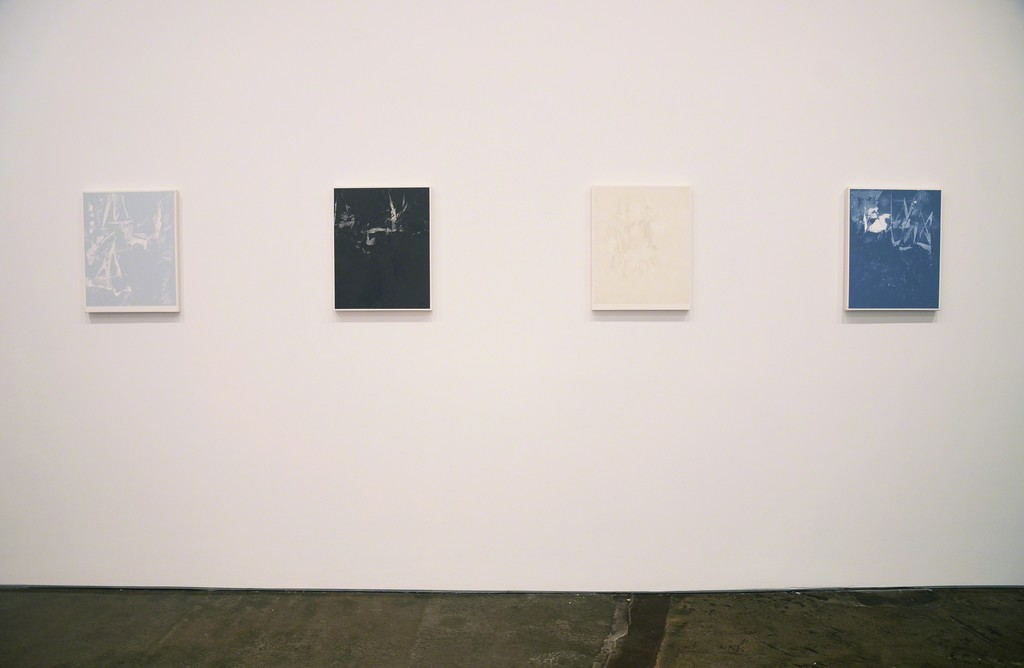 Installation view of Brant / Brennan / Zinsser (paintings by Michael Brennan)
