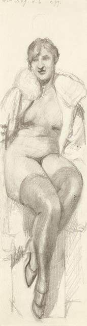 , 'Seated Woman,' 1935-1950, Galerie Bei Der Albertina Zetter