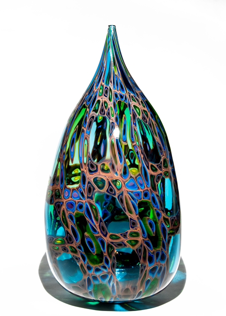 , 'Blue Magic Bottle,' 2017, Murano Midwest