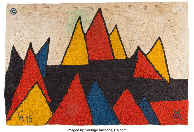Alexander Calder, 'Pyramids Tapestry', 1975, Heritage Auctions
