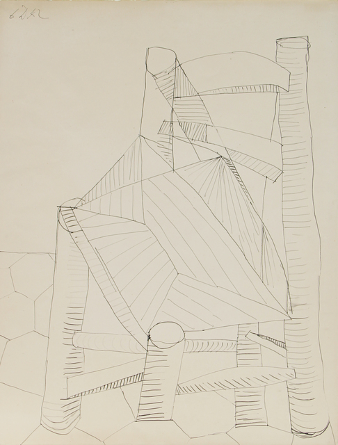 Pablo Picasso, 'Chaise', 1942, Drawing, Collage or other Work on Paper, Pen and ink on paper, Mirat