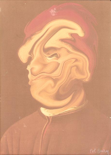 Pol Bury, 'D'Aprés Antonello De Messine (Série Des Ramolissements Virtuels)', 2001, Print, Photographic print on paper, transformed on graphic pad, mounted on canvas, DIGARD AUCTION