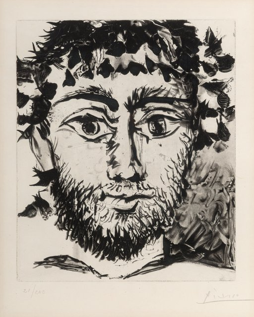 Pablo Picasso, 'Tête de Faune', 1958, Print, Soft ground etching and aquatint on japon nacré paper, Heritage Auctions