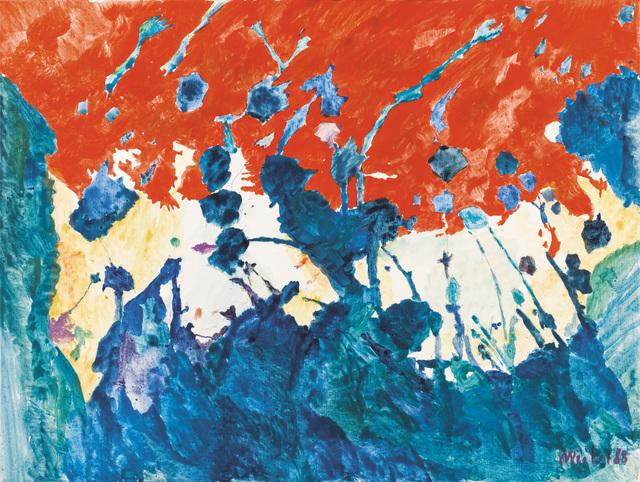 Max Weiler, 'Himmel-Rot', 1988, Galerie Kovacek & Zetter