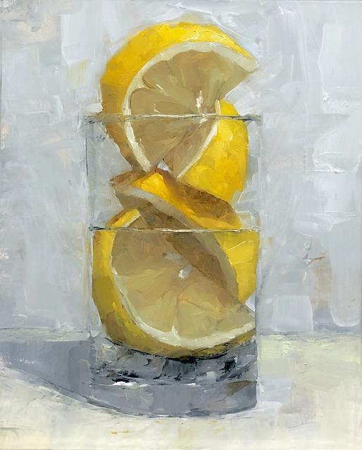 Tom Giesler, 'Floral 21: a lemon for Mariska', 2020, Painting, Oil on panel, McVarish Gallery