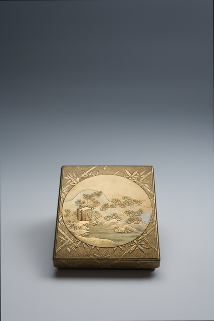 , 'Writing Box with Sparrows and Bamboo (T-3126),' Edo period (1615, 1868), ca. 1800, Erik Thomsen