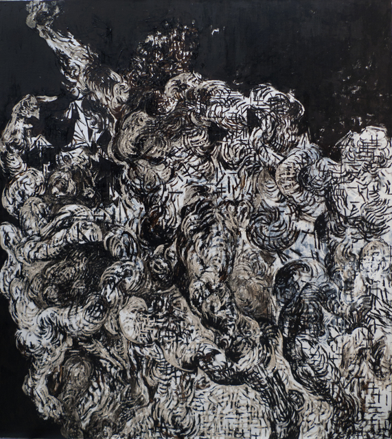 Zelin Seah, 'Laocoon Version A', 2014, Painting, Oil and bitumen on linen, Taksu