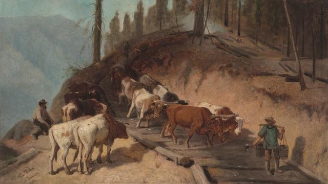 , 'Logging in California,' 1880, Legion of Honor