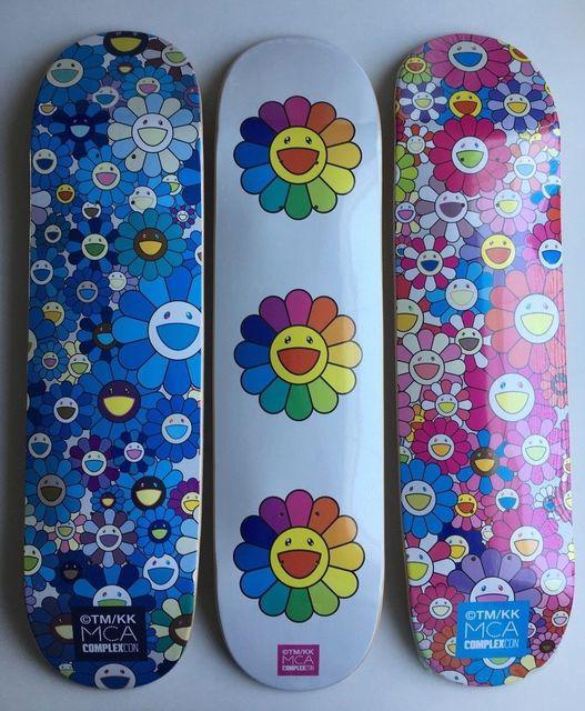 Takashi Murakami, 'Takashi Murakami Flowers Skateboard Decks (complete set of 3) ', 2017, New Art Editions