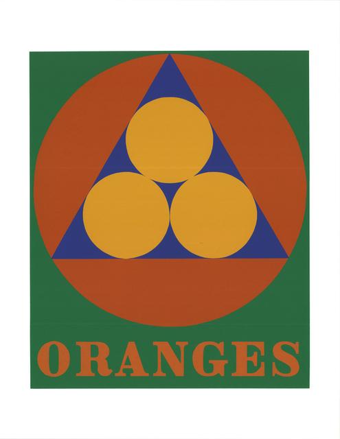 Robert Indiana, 'Oranges', 1997, Print, Silkscreen, ArtWise