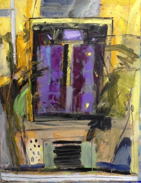 John Brown, 'Yellow and Black Dialogue', ca. 2018, Painting, Acrylic, Tatha Gallery
