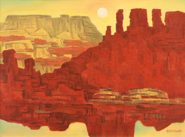 Emil Bisttram, 'Crimson Cliffs ', Addison Rowe Gallery