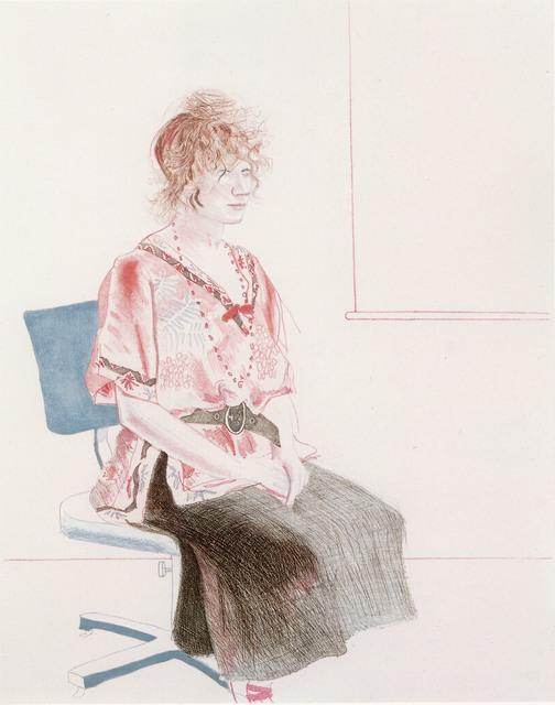 David Hockney, 'Celia Seated on an Office Chair', 1974, Alan Cristea Gallery