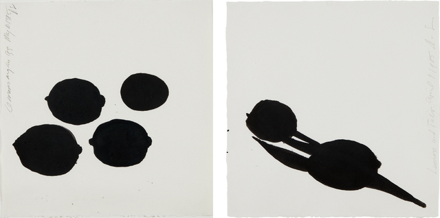 Donald Sultan, 'Lemon and Tulip; and Lemons and an Egg', 1985, Phillips
