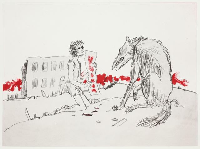 Quentin Blake, 'Girls and Dogs II', 2012, Marlborough Graphics