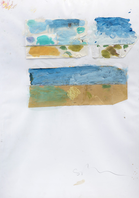 Mario Schifano, 'Untitled', 1978, Mixed Media, Enamel, pastel and collage on paper, Il Ponte