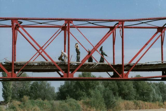 , 'Red Bridge of Kyzyl Tractor,' 2002, Asia Contemporary Art Week