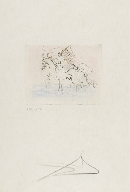 Salvador Dalí, 'Petits Nus Ronsard, from Actes Nues (Michler & Löpsinger 258-265)', 1974, Print, Complete set, comprising eight etchings with hand-colouring, Forum Auctions