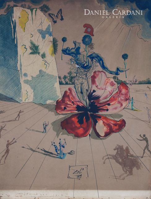 Salvador Dalí, 'Le Rayonnement de la France', 1952, Painting, Collage, ink and watercolor on cardboard, Galería Daniel Cardani