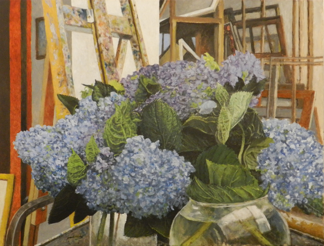 James Blake, 'Blue Hydrangeas', 2017, Painting, Oil on canvas, William Campbell Contemporary Art Inc