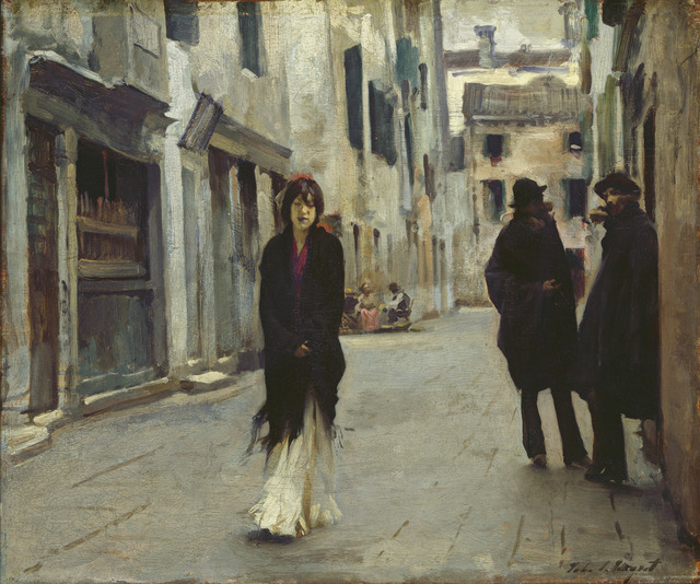 John Singer Sargent, 'Street in Venice,' 1882, National Gallery of Art, Washington, D.C.