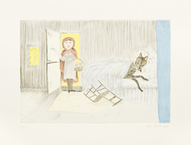 Kiki Smith, 'Homecoming', 2008, Print, Handcolored etching, Galerie Lelong & Co.