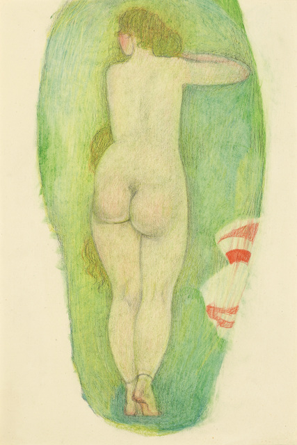 , 'Nude from the Back with Long Hair, double-sided,' ca. 1919, Galerie Bei Der Albertina Zetter