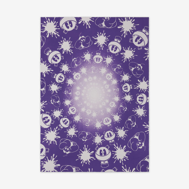 John Armleder, 'No Stain, No Gain (Purple & White Edition)', 2018, Print Them All
