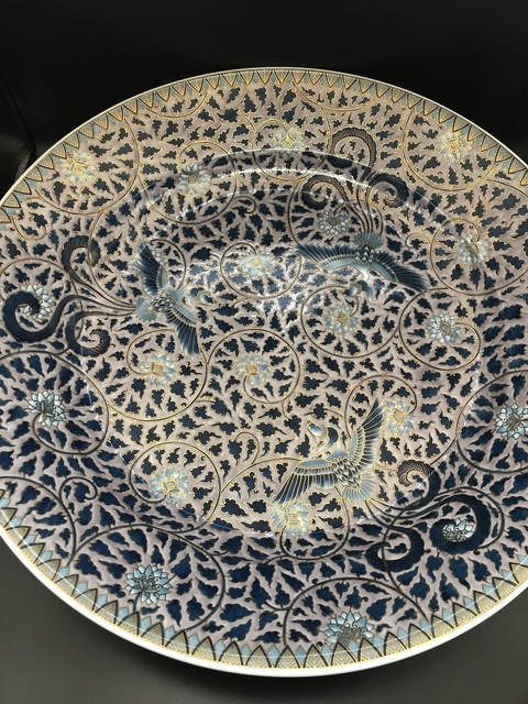 , 'Large Arita Japanese Platter - Bowl with Phoenix Birds,' 21th Century, Romang Antiques Gallery - Asian Art