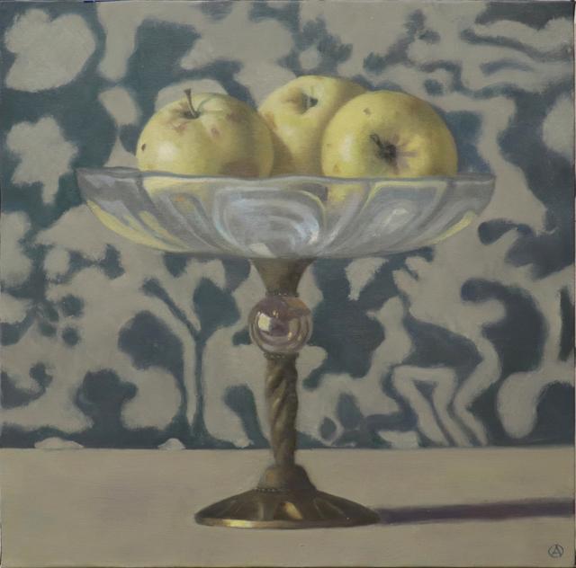Olga Antonova, 'Three Golden Apples', 2020, Painting, Oil on canvas, Gallery Henoch