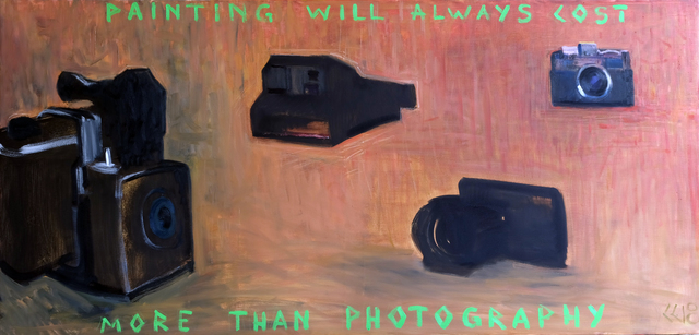 , 'Painting will always cost more than photography,' 2018, ONE MONEV Gallery