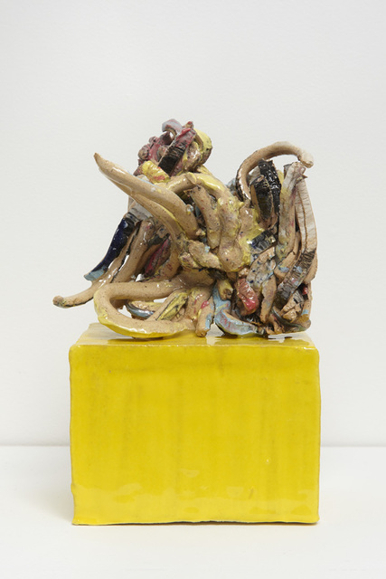 , 'Thoughts #7 Writing on a Yellow Base,' 2017, Jane Hartsook Gallery