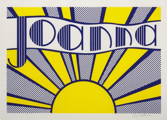Roy Lichtenstein, 'Joanna', 1968, Hindman