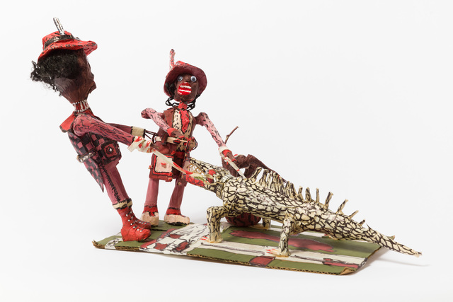 , 'Untitled (WH264 two figures with black and white lizard on leash),' , The Good Luck Gallery