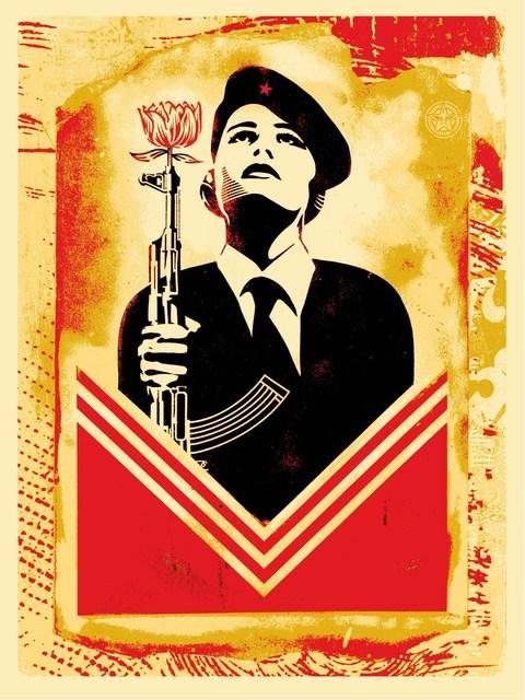 Shepard Fairey, 'Peace Guard 2 Stencil (Lisbon)', 2017, Black Book Gallery