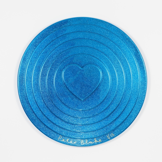 , 'Blue Target (metal flake),' 2017, Paul Stolper Gallery