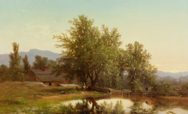 , 'Landscape with Pond,' 1862, Questroyal Fine Art
