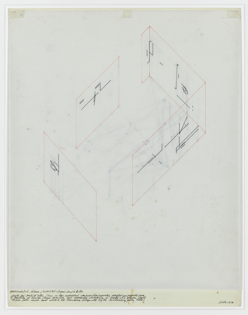 , 'Accumulated Vision/ Separated Stages/: length ratios,' 1976, David Nolan Gallery