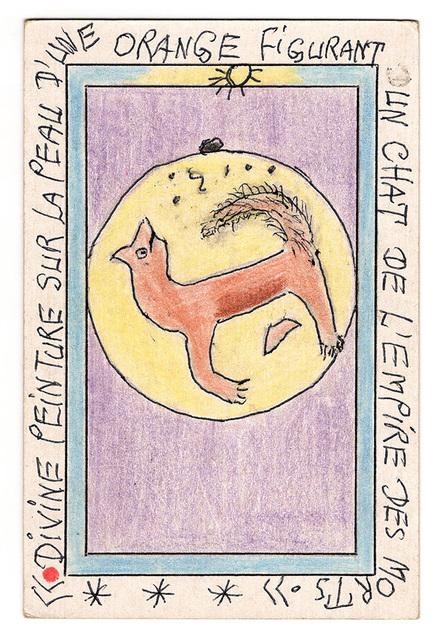 , 'Divine peinture sur une peau d'orange figurant un chat...,' 2007, Magnin-A