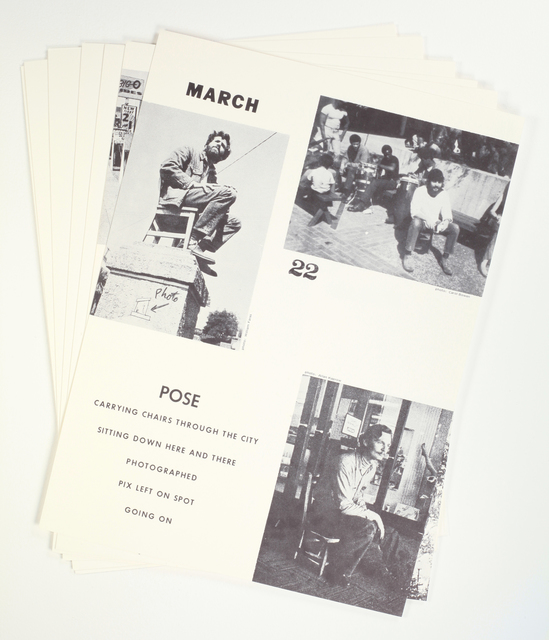 Allan Kaprow, 'Pose. March 22, 1969 Continued 1970', 1970, Benjamin Ogilvy Projects