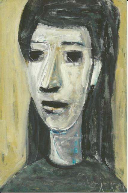 Paul-Henri Bourguignon, 'Head on Yellow', Eisele Fine Art