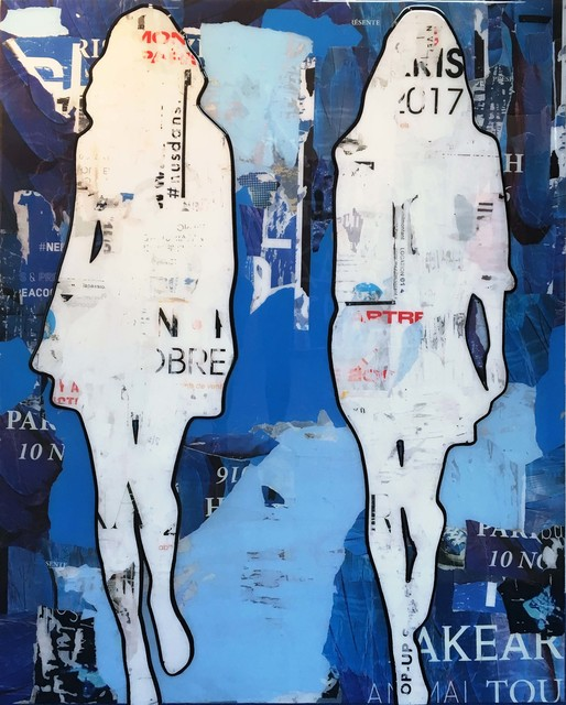 , '2 Walking Girls Blue,' , Joanne Artman Gallery